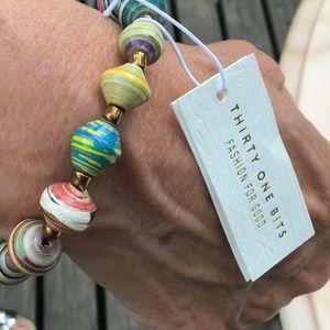31 Bits Beaded Bracelet Multi Color NWT 🦒